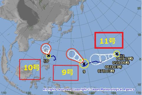 台風11号2015